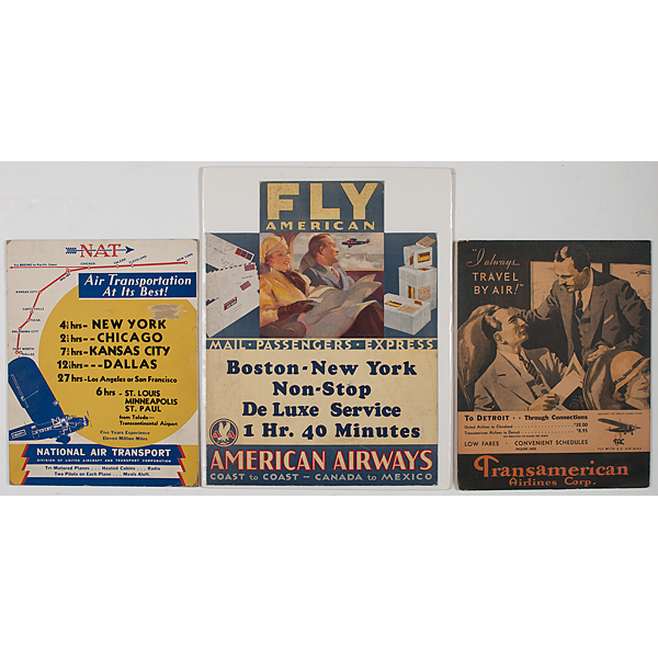 Early Airline Company Displays, Incl. American Airways, Transamerican Airlines Corp., and National Air Transport