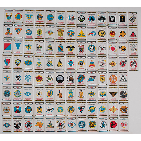 Switzer's Giant Bubble Gum WWII Army Air Corps Insignia, Set of 100 Cards