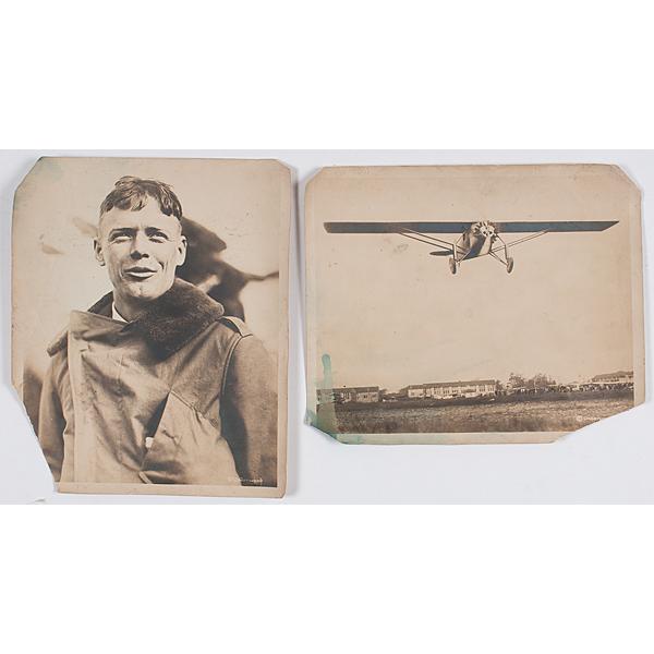 Charles Lindbergh, Two Silver Gelatin Photographs