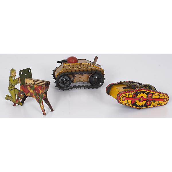 Military Tin Toys, Lot of 3