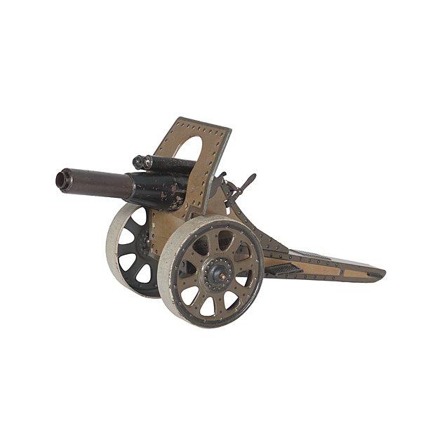 German Tinplate Armored Cannon Toy by Bing