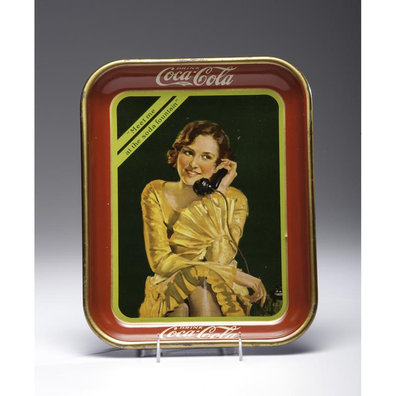 Coca Cola Tray Meet Me at the Soda Fountain | Cowan's Auction House