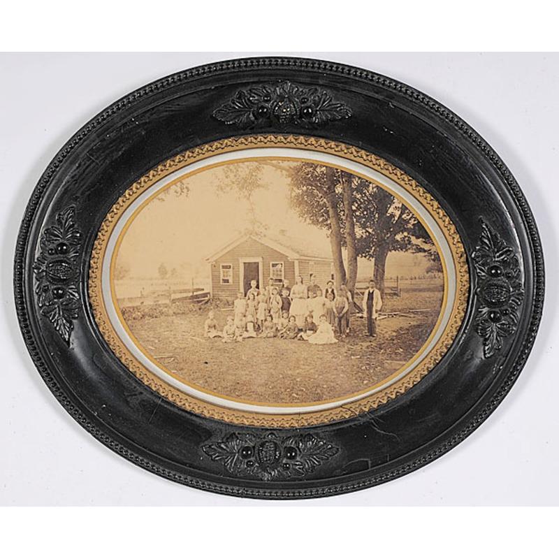 Framed Albumen of One Room School House,