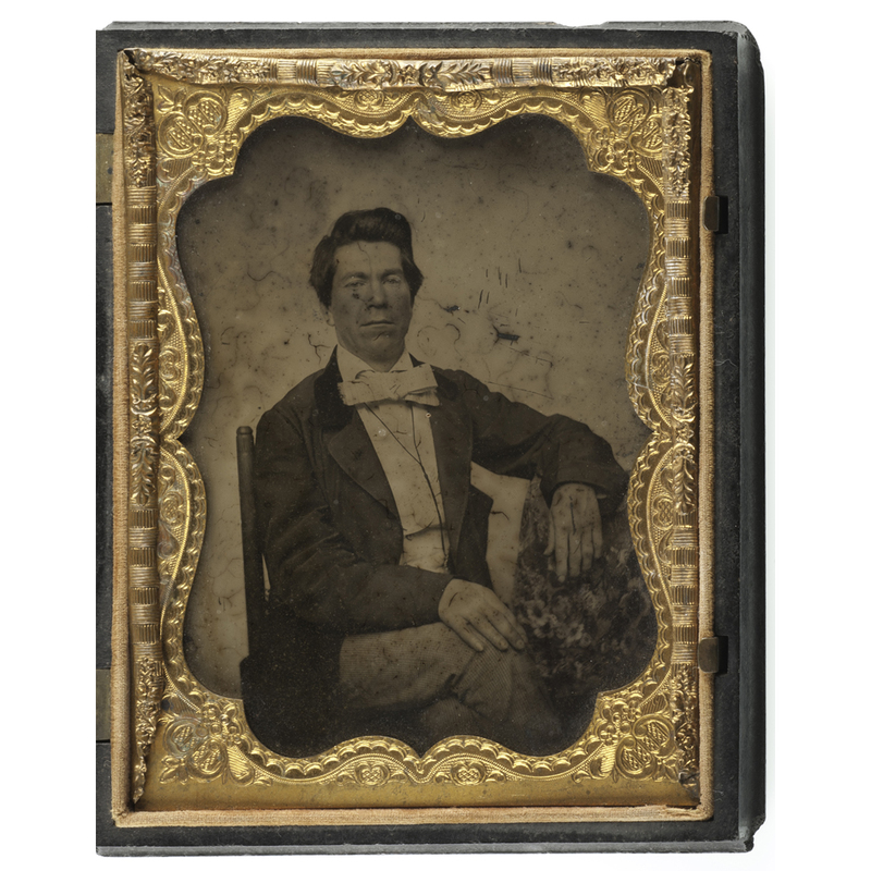 Quarter Plate Ambrotype of John W. Mimms, Jr., Possible Portrait of Zerelda James' Brother