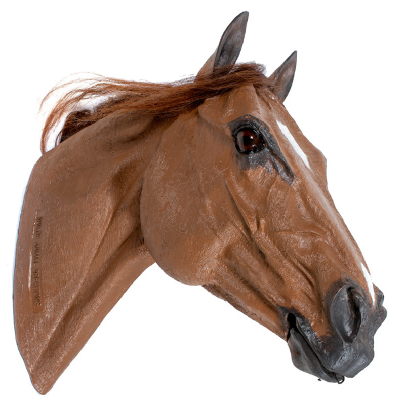 Life Size Plastic Brown Horse Head Display Mannequin
