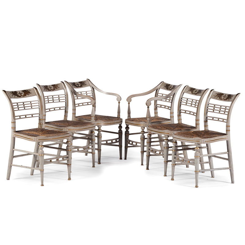 Federal Paint-Decorated Chairs