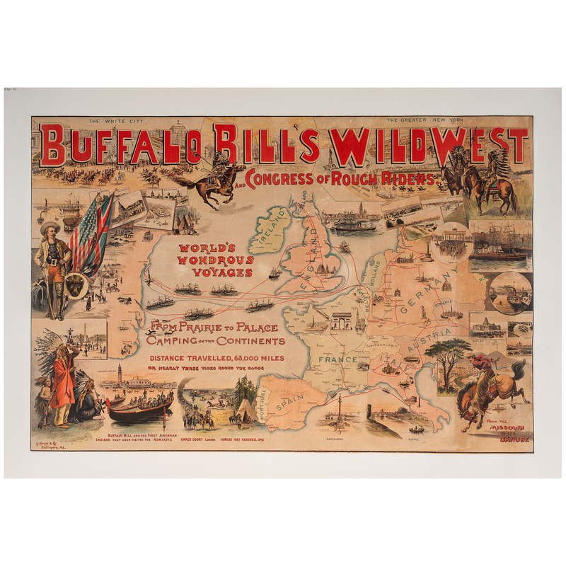 Buffalo Bill's Wild West and Congress of Rough Riders, Poster by Hoen
