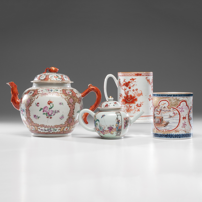 Chinese Export Teapots and Canns