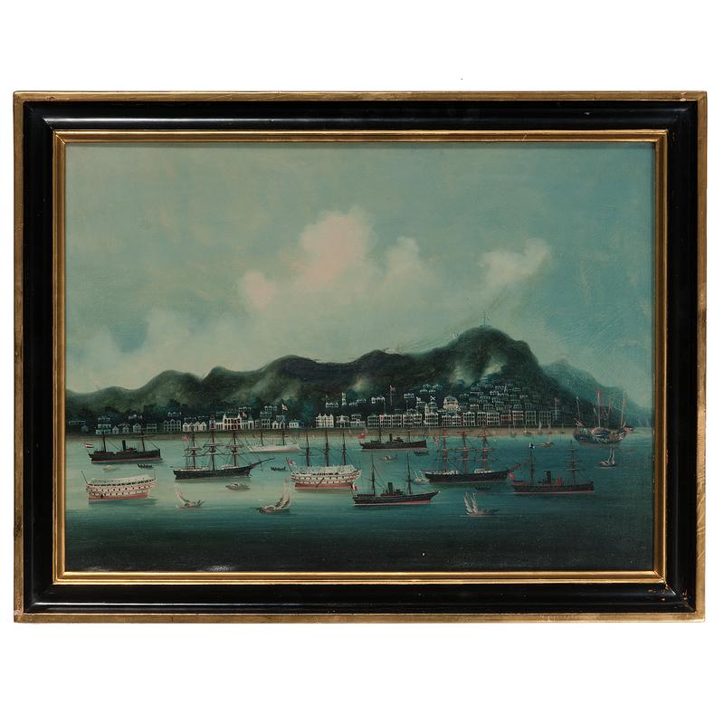 China Trade School, The Hongs of Hong Kong with International Ships