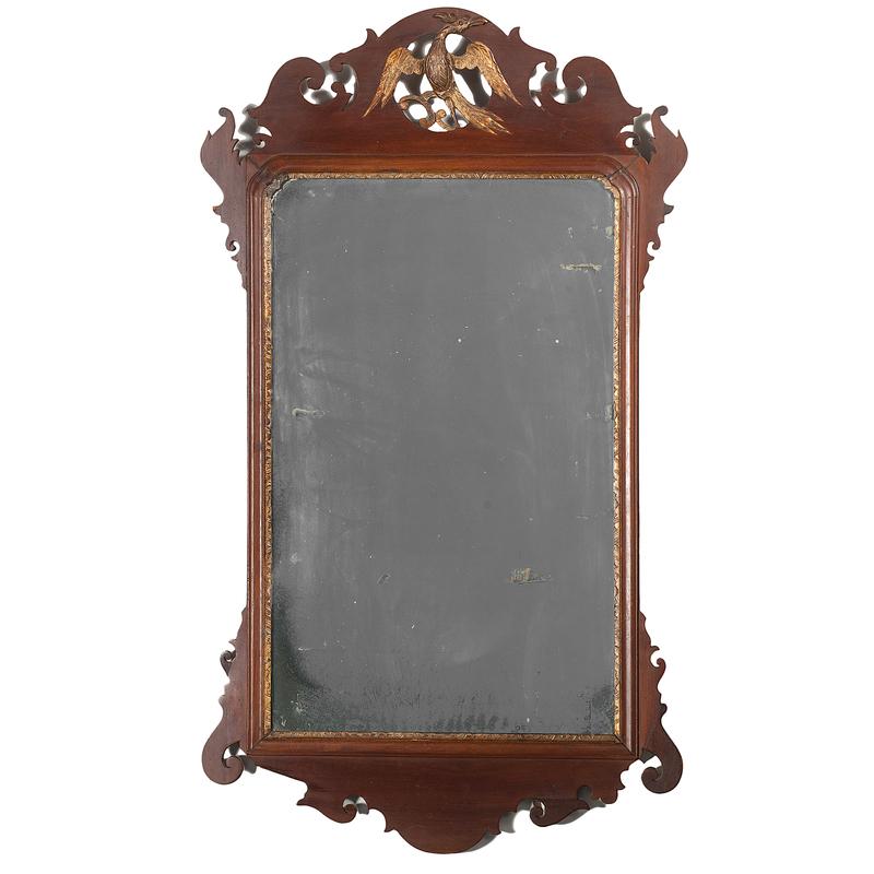 Chippendale Parcel Gilt Mahogany Mirror