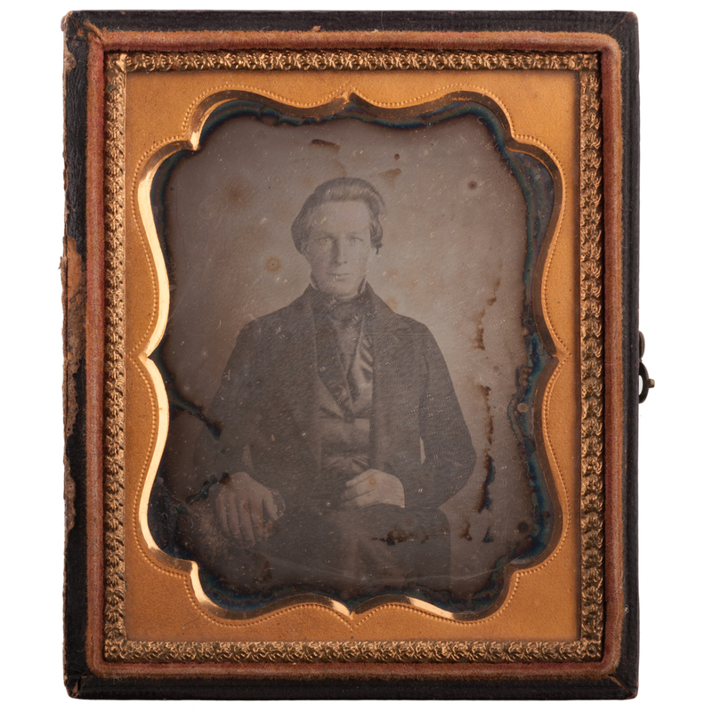 Pre-Civil War Sixth Plate Daguerreotype of Sylvester Willey, Possible POW at Andersonville