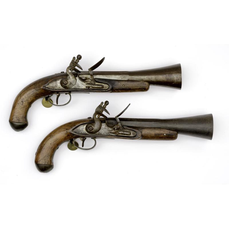 Pair Of Iron Mounted Blunderbuss Pistols