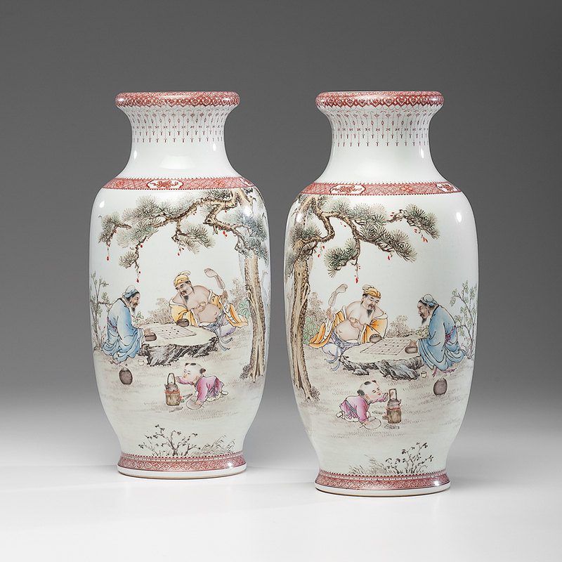 Chinese Republic Period Porcelain Vases Cowan S Auction House The Midwest S Most Trusted