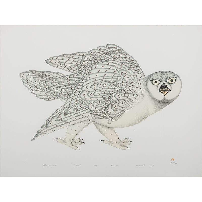 Kananginak Pootoogook (Inuit, 1935-2010) Lithograph on Paper