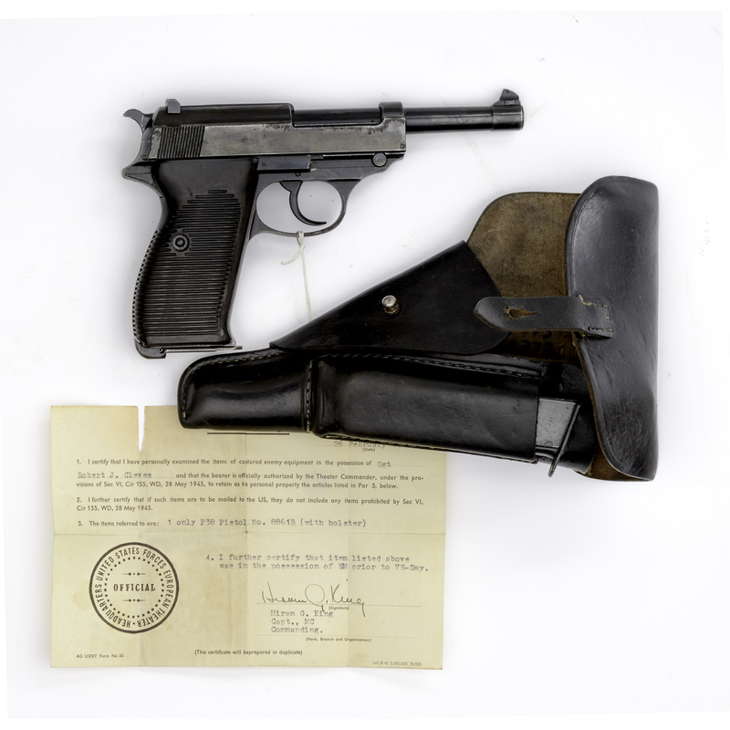 **Walther P-38 AC-40 with Capture Papers and Holster