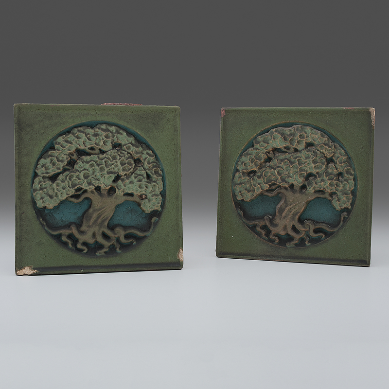 Tree Of Life Fireplace Surround: Rookwood Pottery Tree Of Life Faience Tiles