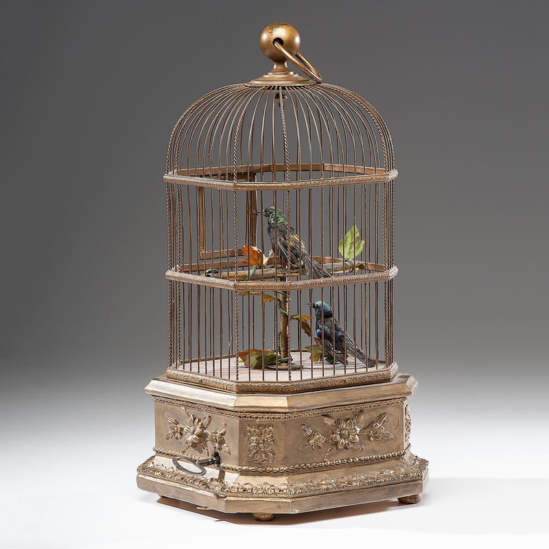 French Double Singing Bird Cage Automaton