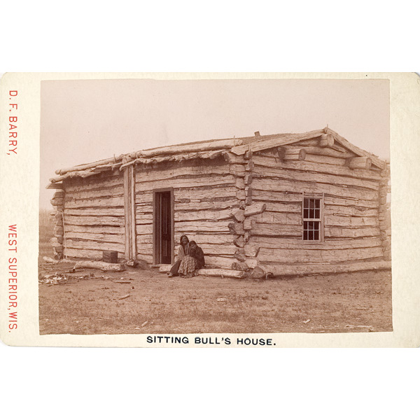 D.F. Barry's Cabinet Card of Sitting Bull's Cabin,