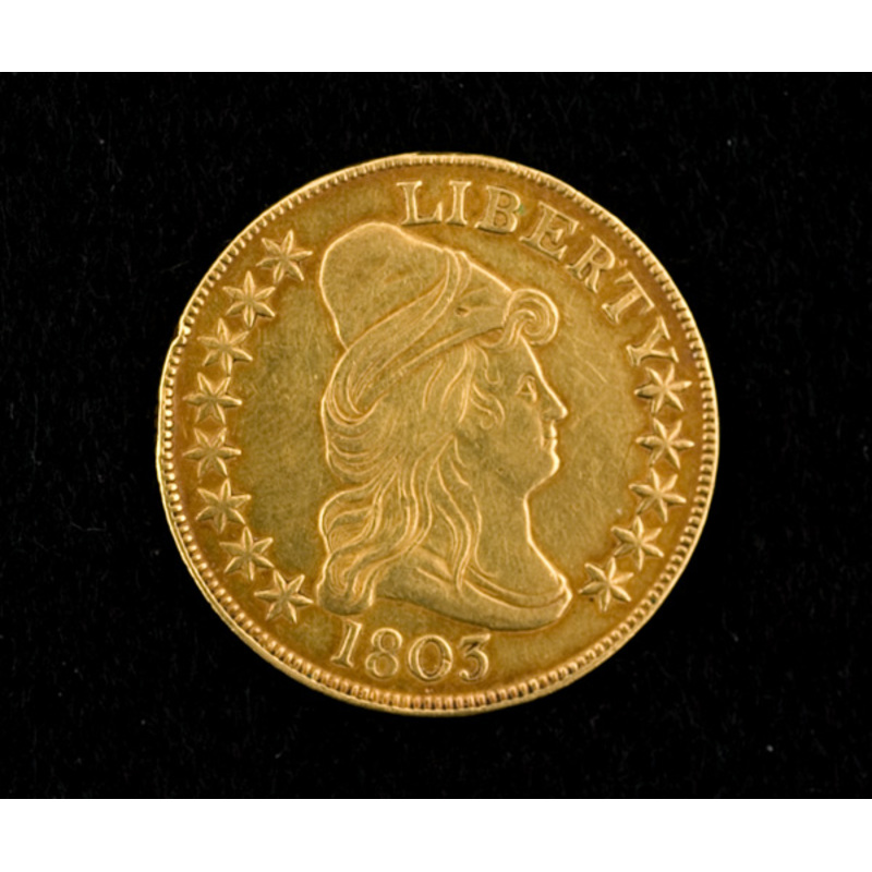 1803 Ten Dollar U.S. Gold Eagle Coin,