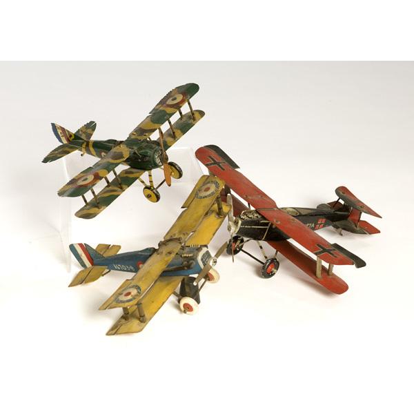 Three WWI Model Airplanes,