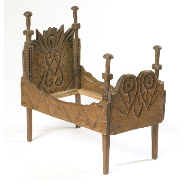 Indiana Folk Art Four-Poster Doll Bed,