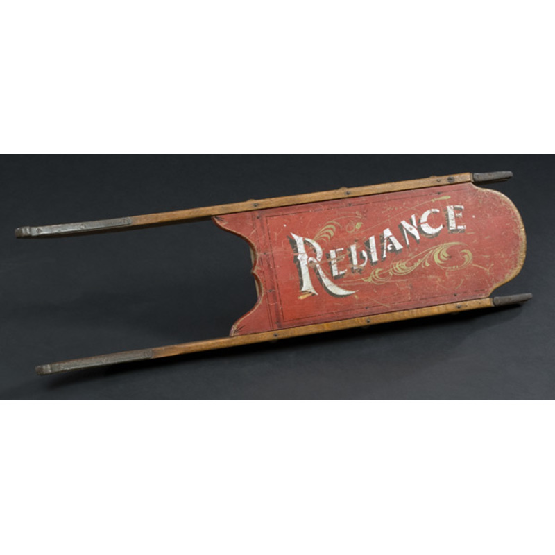 Paint Decorated Reliance Child's Sled,