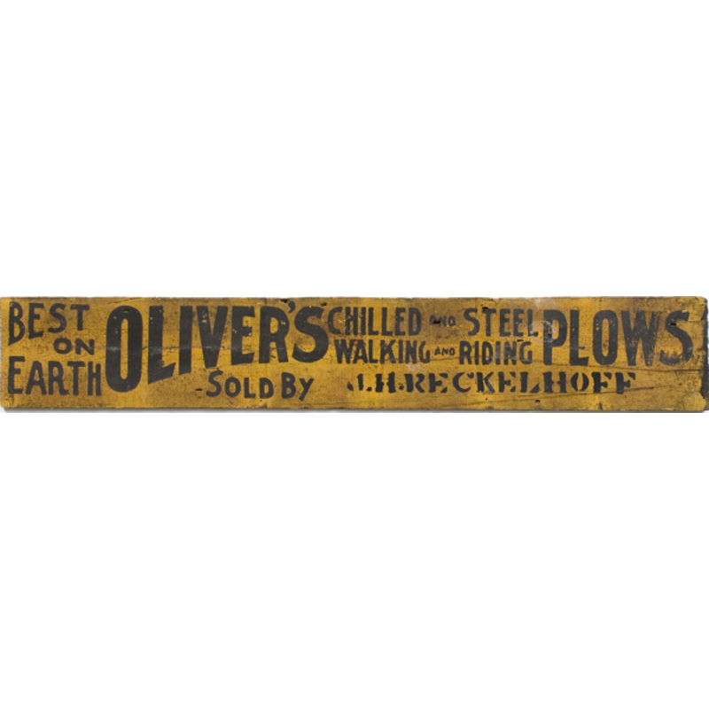 Oliver's Plows Trade Sign,