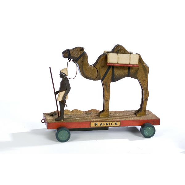 Fine Mechanical Pull Toy by Georgia Folk Artist