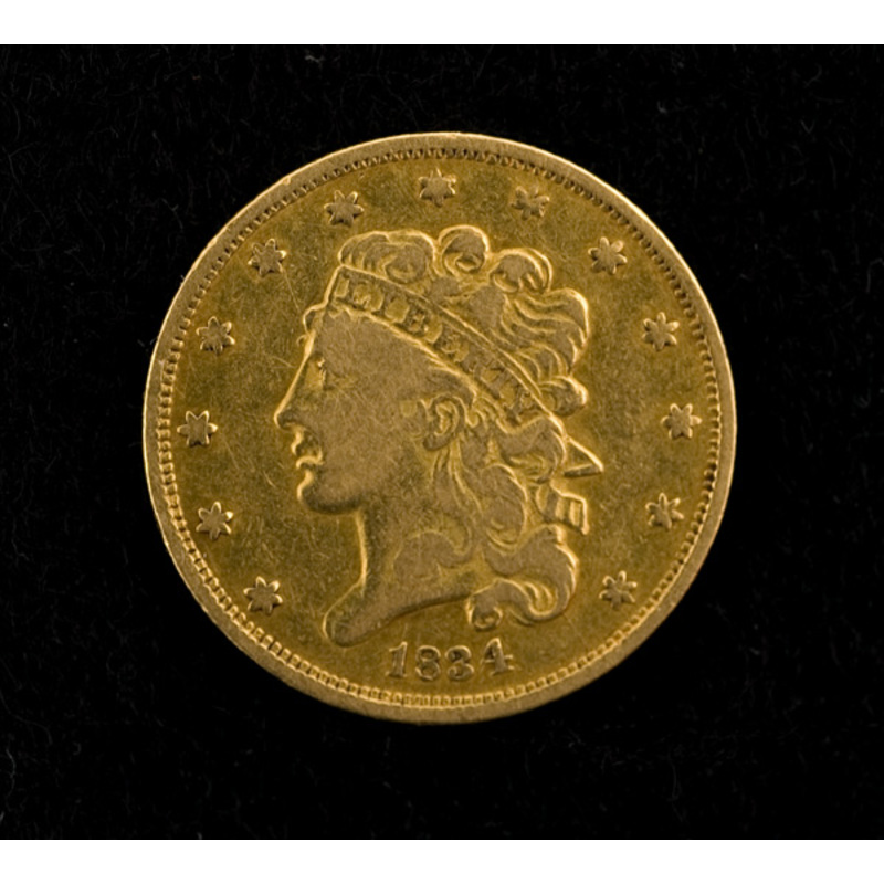 1834 Five Dollar Classic Head Gold Coin,