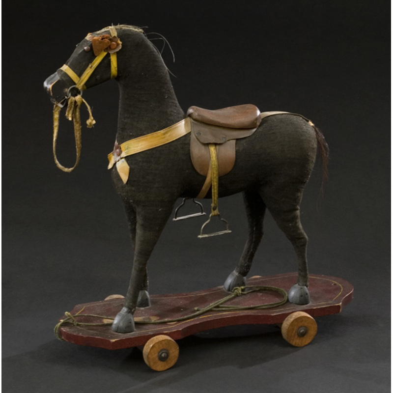 Child's Horse Pull Toy in Original Paint,