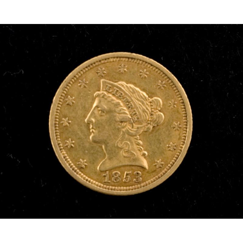 1853 Coronet Quarter Eagle Coin,