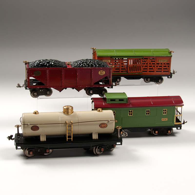 Lionel No. 215 Ivory Oil Car And 500 Series Freight Cars