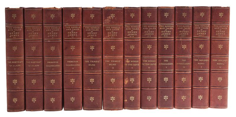 [Literature - Henry James - New York Edition] 24 Volumes Henry James in 1/2 Morocco - Alvin Langdon Coburn Frontis Illustrations