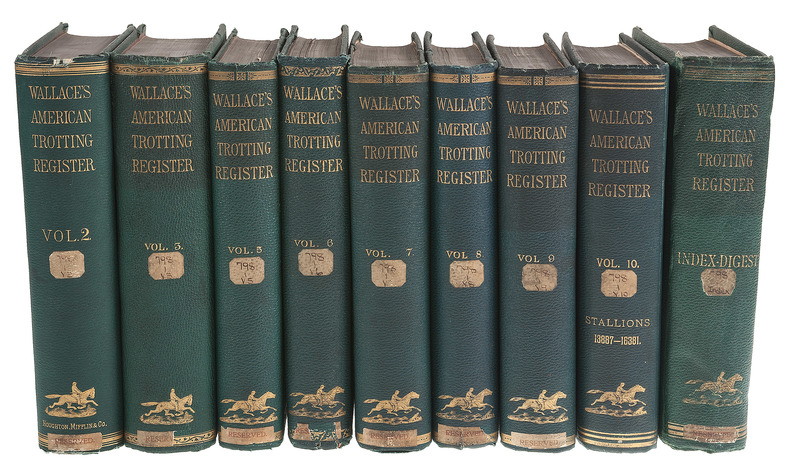 [Americana - Horse Racing] 17 Volumes of Wallace's American Trotting Register, 1874-1891