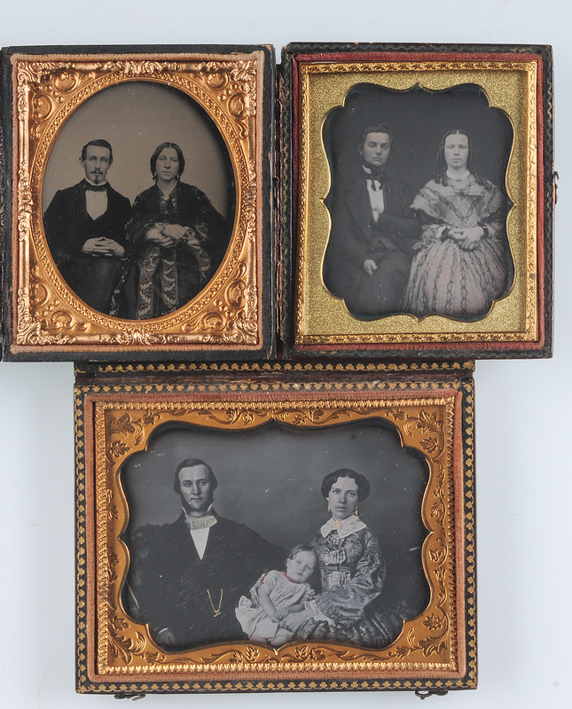 Daguerreotypes and Ambrotype of Families and Couples, Lot of 3