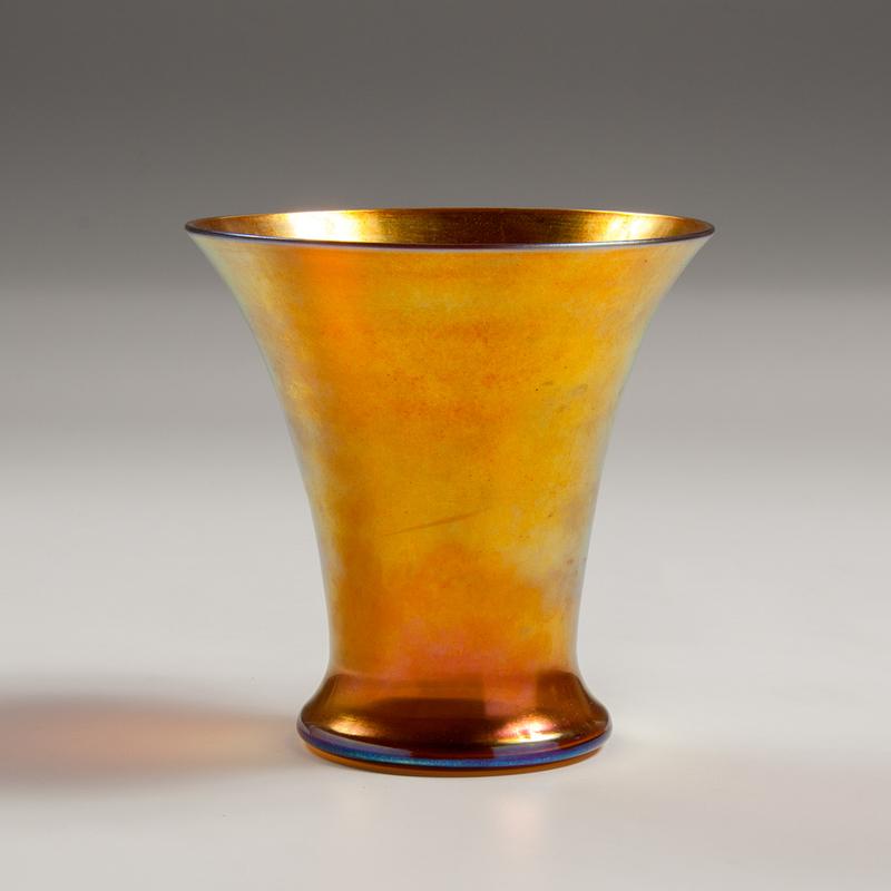 Steuben Gold Aurene Glass Vase