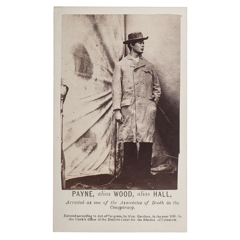 Exceptional CDV of Lincoln Assassination Conspirator Lewis Powell by Gardner
