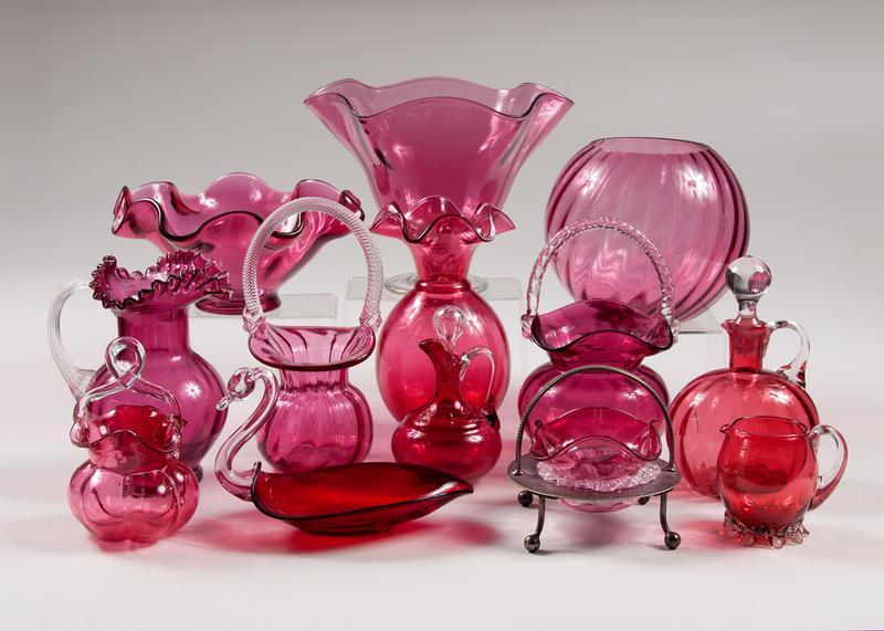 victorian cranberry glass plus cowan s auction house the