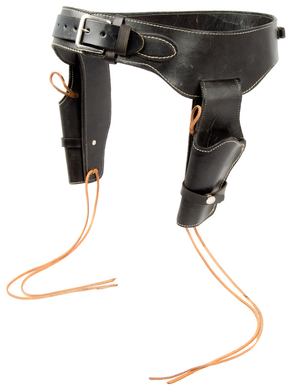 Contemporary Smooth Leather Double Rig Holster