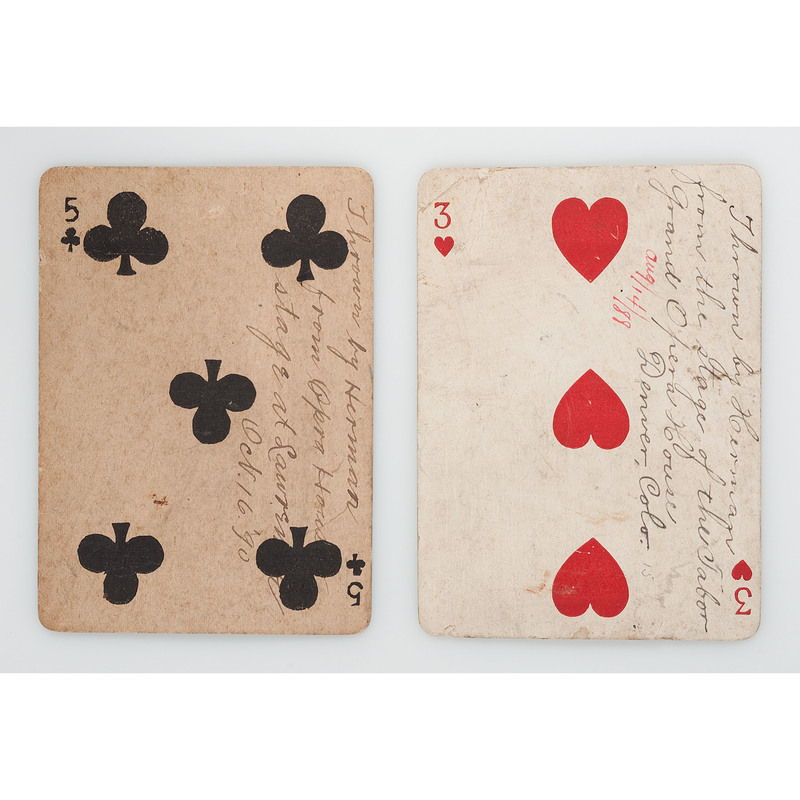 Tabor Grand Opera House, Denver, Colorado, Playing Card Thrown During...