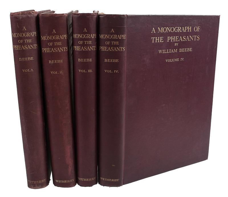 [Ornithology - Pheasants] William Beebe's Classic 4 Volume Work on