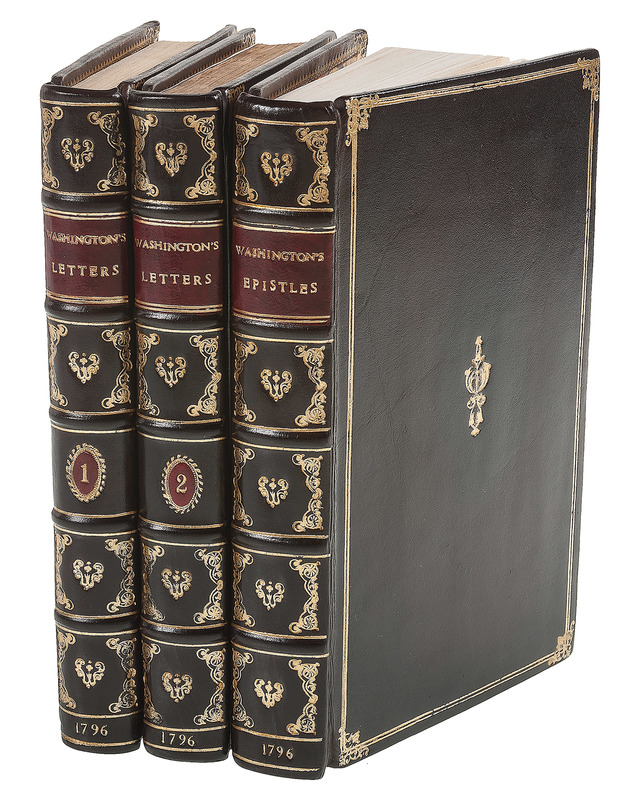 [Americana - Revolutionary War - George Washington] Three Volumes of Washington's War Era Letters Published in New York in 1796 - Howes W133 and W142 - in Modern Fine Leather Binding