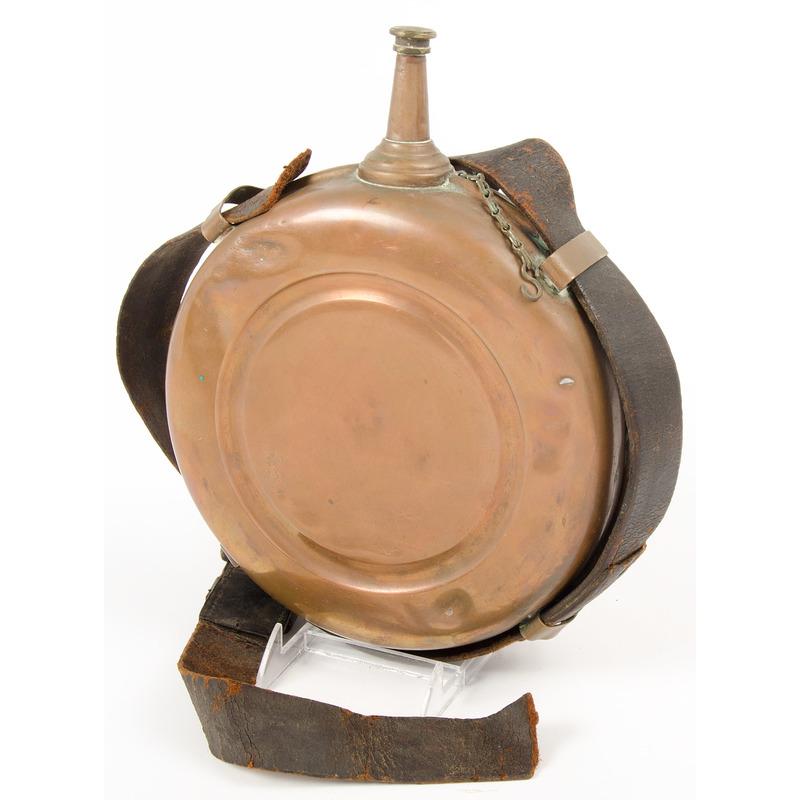 Civil War U.S. Issue Signal Corps Copper Fuel Canteen