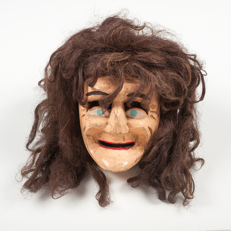 Mexican Parade Mask of a Woman, Deaccessioned from the Children's Museum of Indianapolis