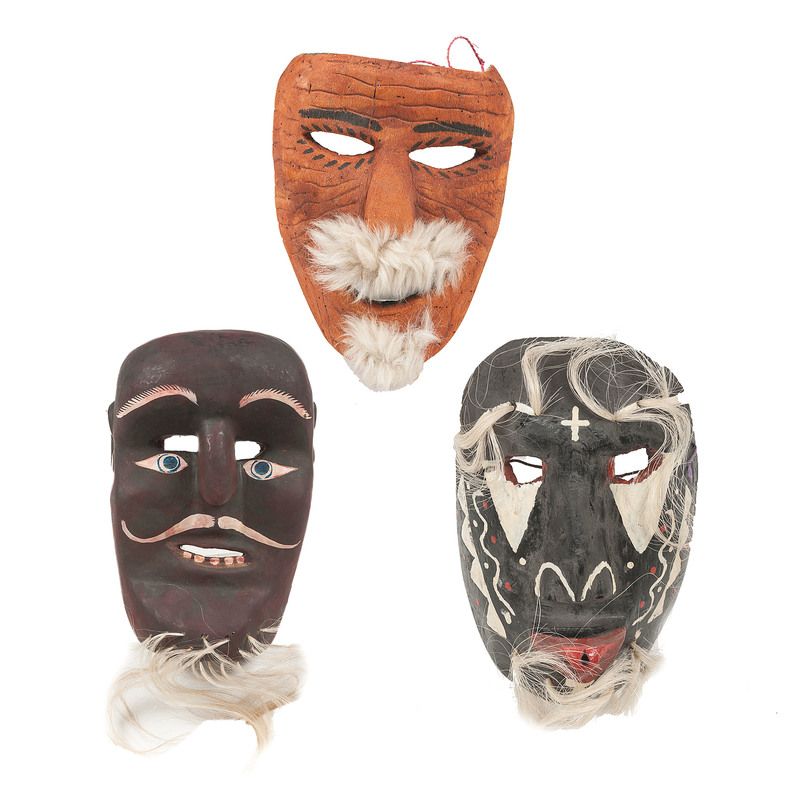 Mexican Parade Masks, Deaccessioned from the Children's Museum of Indianapolis