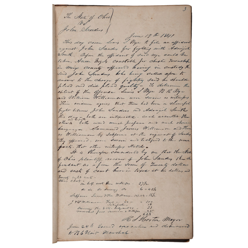 Horton Family of Ohio, Manuscript Archive