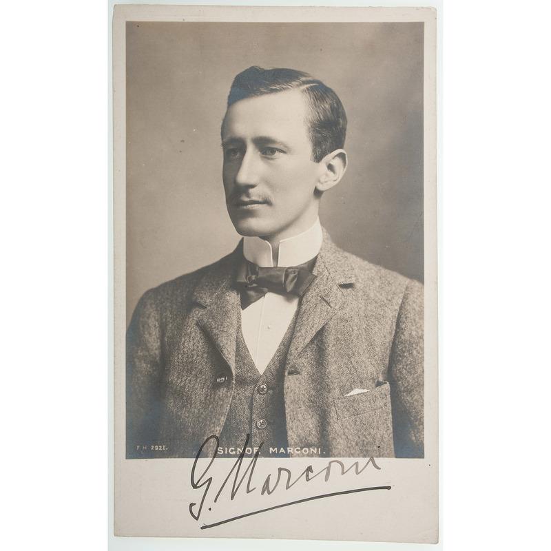 Guglielmo Marconi Singed Real Photo Postcard