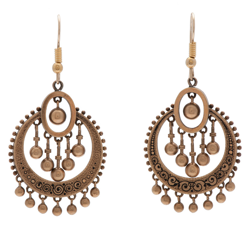 14 Karat Yellow Gold Victorian Earrings
