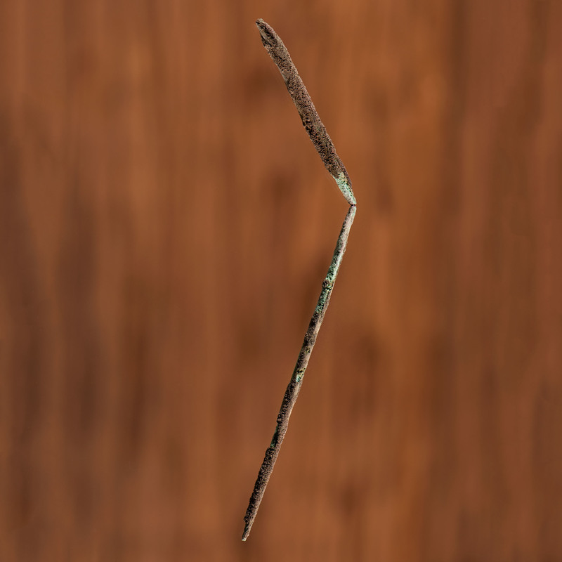 An Old Copper Culture Long Hairpin, From the Collection of Roger