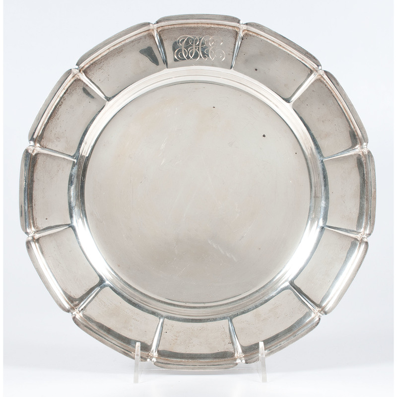 Frank M. Whiting Sterling Serving Tray